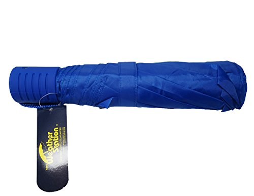 the-weather-station-42-inch-manual-fold-compact-folding-umbrella-in-blue-pack-of-3