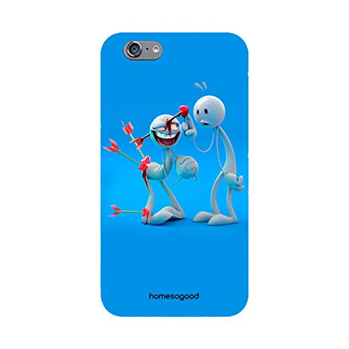 HomeSoGood No Pain In Love Blue 3D Mobile Case For iPhone 6S (Back Cover)