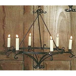 Wrought Iron Chandelier | Chandeliers | Candle | Black | Lighting