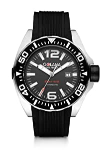 Golana Advanced Aqua Men's Automatic Watch with Grey Dial Analogue Display and Black Rubber Strap ADQ100-2