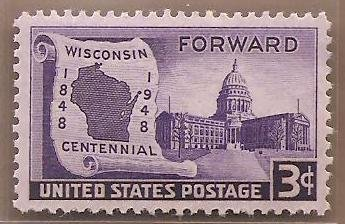 Postage Stamps US Wisconsin Centennial 18481948 Sc957 MNH