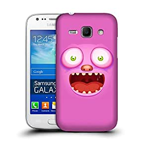 MobileGlaze Designs Pearl Teeth Monster Pink Laugh Hard Back Case Cover for Samsung Galaxy Ace 3