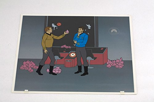 STAR TREK ANIMATION ORIGINAL SERICEL TROUBLE WITH TRIBBLES WITH BACKGROUND KIRK