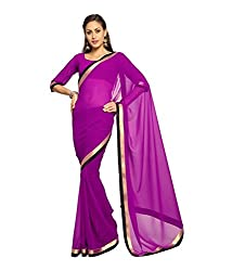 SRP Fashion Selection Women's Georgette Saree (SRP-OF49, Purple)