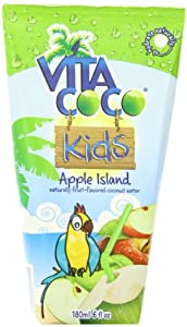 Vita Coco Kids Coconut Water, Apple Island, 6 Ounce (Pack of 6)