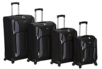 Rockland Luggage Impact Spinner 4 Piece Luggage