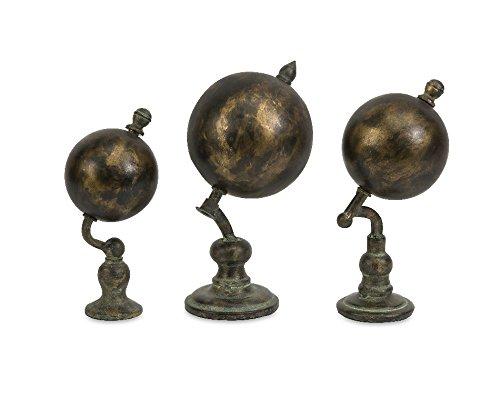 Imax 74174-3 Watson World Globes, 3-Pack