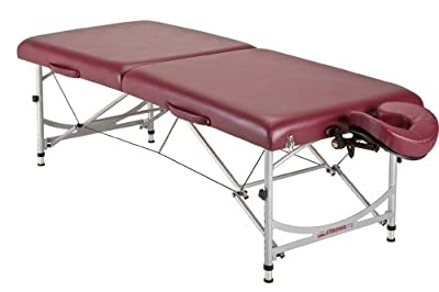 Stronglite Stronglite Versalite Pro Portable Massage Table Package, Burgundy, Aluminum
