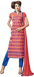 Manmauj Women's Cotton Unstitched Dress Material (MM10051DRED, Red)