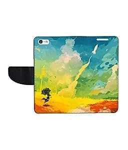 KolorEdge Printed Flip Cover For Apple iPhone 5 - Multicolor(43KeMLogo8001iPhone5)