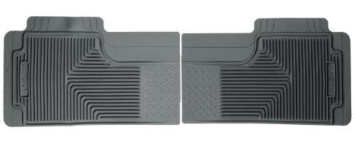Husky Liners Custom Fit Heavy Duty Rubber Rear Floor Mat - Pack Of 2 (Grey)