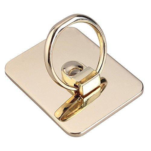 SZRSTH スマホリングスタンド ring holder ホールドリング 全スマホ タブレート通用 iPhone/iPad/iPod/Galaxy 指1本で保持・落下防止・スタンド機 改良版(ゴールド)