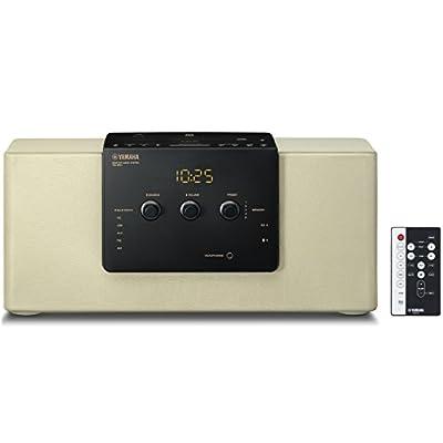 ヤマハ デスクトップオーディオシステム CD/USB/ワイドFM・AMラジオ/Bluetooth対応クロックオーディオ シャンパンゴールド TSX-B141(NC)