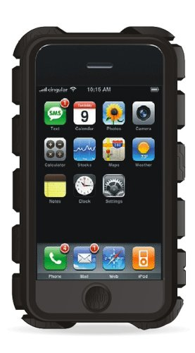 Speck Products Tough Skin Case for iPhone 3G, 3GS (Black)