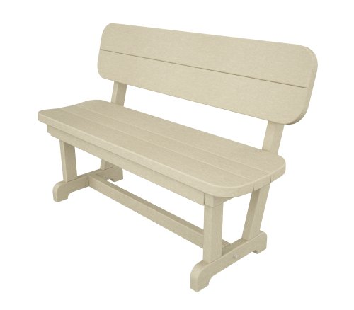 Poly-Wood Park 48-Inch Bench, Sand