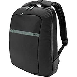 Belkin F8N112ttKSG Nylon Case Messenger Laptop - fits 15.6-Inch Notebooks (Black/Soft Grey)