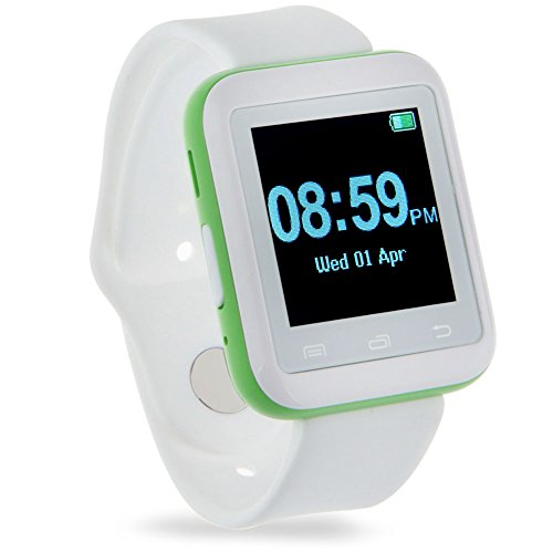 Padgene Bluetooth 3.0 New SmartWatch for Samsung S3 / S4 / S5 / Note 2 / Note 3 / Note 4, HTC one M8 / M9, Nexus 6, Sony and other Android Smartphones, Green