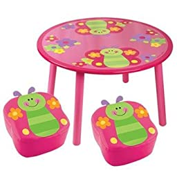 Stephen Joseph Table With 2 Chairs (Butterfly)