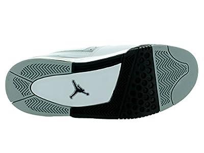 Air Jordan Mens Flight23 Basketball Shoes White/Black-Wolf Grey