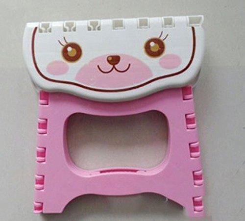 niceeshop(TM) Taburete Plegable de Gato Dibujos Animados para los Niños, Rosa