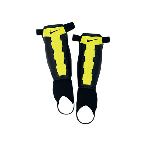 NIKE Charge Football Shin Guard Shin Pad - Black / Volt (XL = 5'11 - 6'7