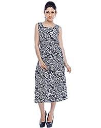 Designeez Multicolor Full Length Maxi Dress