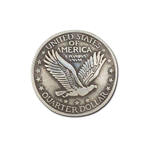 "Eagle Quarter Concho Screwback 1"" (25mm) Item Tandy Leather 7095-00"