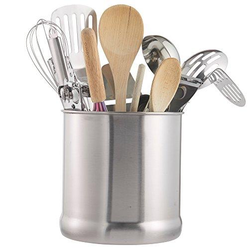 ... vonshef stainless steel utensil holder with a substantial 7 diameter