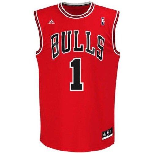 Chicago Bulls Adidas Derrick Rose Red Replica Jersey