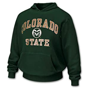 Buy Colorado State Rams Arch and Logo Hooded Sweatshirt by Unknown