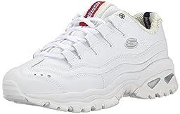 Skechers Sport Women\'s Energy Sneaker, White/Millennium, 10 M US