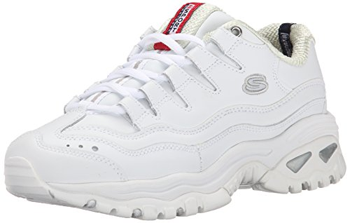 Skechers Sport Women's Energy Wide Sneaker,White/Millenium,10 W US