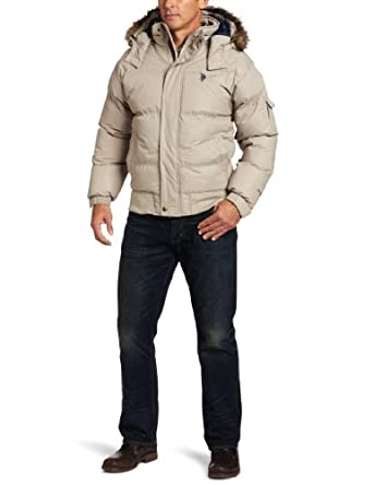 U.S. Polo Assn. Men's Short Snorkel Jacket, Thompson Khaki, X-Large