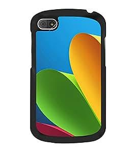 Colourful Paper 2D Hard Polycarbonate Designer Back Case Cover for BlackBerry Q10