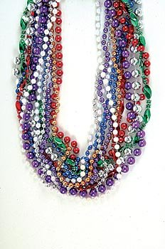 "12 ~ Mixed Beaded Necklaces ~ Approx. 33"" ~ Plastic Beads ~ New ~ Party Favors, Play Jewelry - 1"