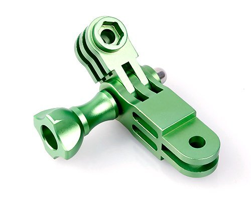 Bluefinger Cnc Aluminum Gopro Mount 3-Way Pivot Arm Set Assembly Extension And 2 Thumb Knob Roll Bar Mount For Gopro Hd Hero 2 And Hero 3 Camera - Green