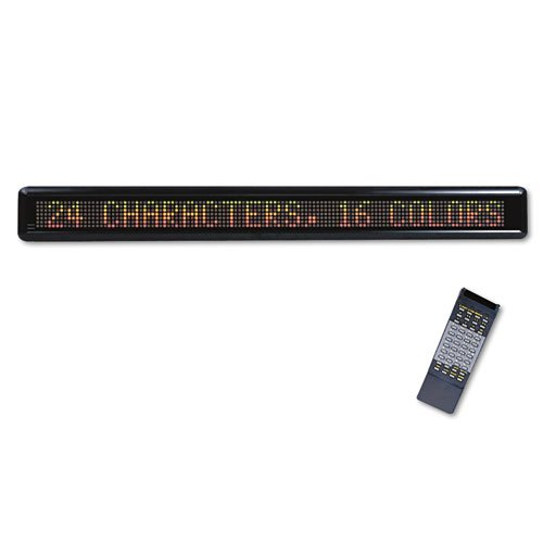 Headline® Sign - Led Electronic Moving Message Sign, 39-1/2 X 1-7/8 X 4-1/2 - Sold As 1 Each - Bright, Scrolling Sign With Two-Inch High Characters Sure To Grab Attention.