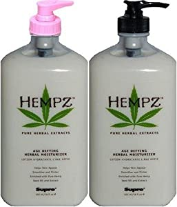 Supre Hempz Age Defying Herbal Moisturizer, 18 Fl. Oz. / 530 mL (Pack of 2)