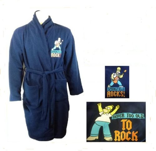 SIMPSONS MEDIUM BATHROBE DRESSING GOWN ADULT SIZE