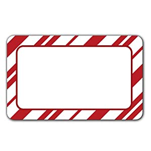 Amazon.com : Candy Cane Stripe - Adhesive Labels : All Purpose Labels