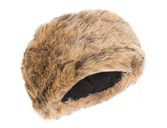 Ladies tonal faux fur paris style winter cloche hat (Honey)
