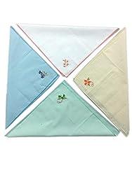 Blacksmithh 100% Embroidered Cotton Ladies Handkerchief in 4 Colors