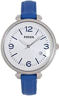 Fossil Women's ES3279 Heather Blue/White Stainless Steel Watch
