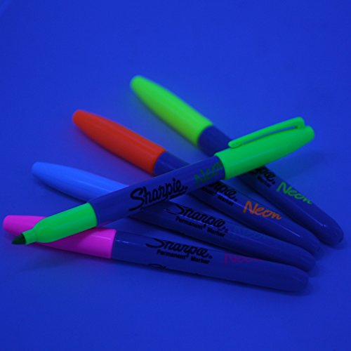 Sharpie Neon Permanent Markers Fine Point Assorted
