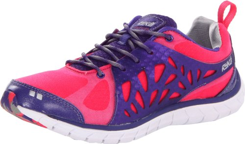 RYKA Women's Precision Cross-Training Shoe,Electric Pink/Purple Rain/Chrome Silver/White,10 M US