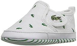 Lacoste Gazon 116 2 Slip-On (Infant/Toddler), White/Dark Green, 3 M US Infant