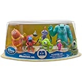 Disney / Pixar MONSTERS INC. Movie Exclusive 7 Piece Deluxe PVC Figurine Set - includes Sulley, James P. Sullivan, Mike Wazowski, Randall, Boggs, George, Sanderson, Fungus, Roz, Boo