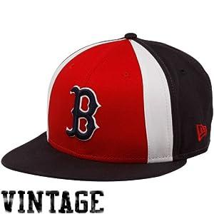MLB New Era Boston Red Sox Red-Navy Blue Retro Slice Snap Back Adjustable Hat