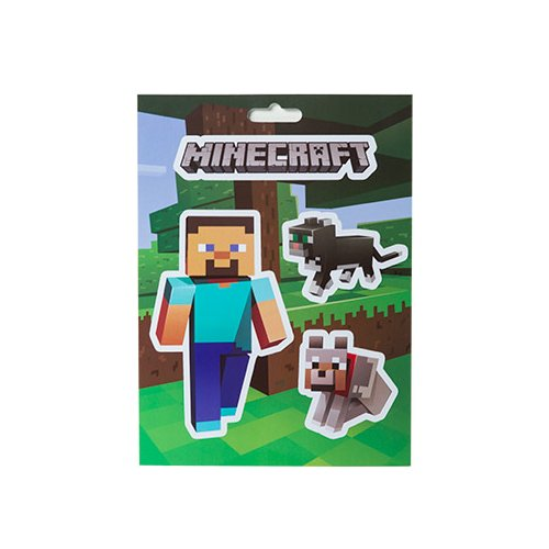 Minecraft 5x7 Steve & Pets Stickers