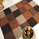 Nordic Andes Orange/Brown Blocks Design Oblong Rug 160X230